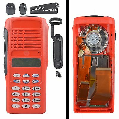 Red Replacement Housing Case Display For Motorola MTX8250.LS Portable Radios