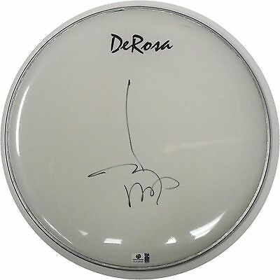 """Johnny Depp Hand Signed Autographed 13"""" Drumhead Pirates Of Carribean GA 728391"""