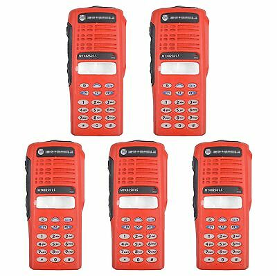 5x Red Replacement Repair Case Housing For Motorola MTX8250.LS Portable Radios