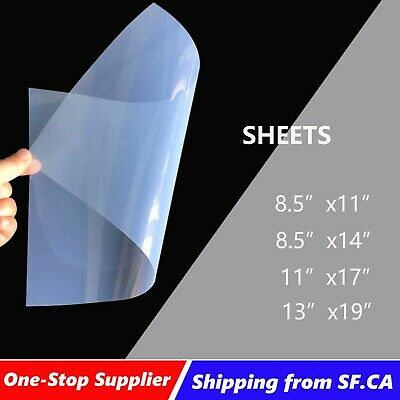 100 sheets,8.5x11,Screen Printing Waterproof Inkjet Transparency Film for EPSON