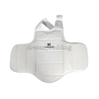 Padded Karate Chest Guard Martial Arts Sparring MMA Body Protector Shield