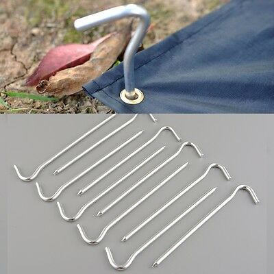 20pcs Aluminum Tent Pegs Ground Stakes Nail Pins For Outdoor Camping Hiking 17CM