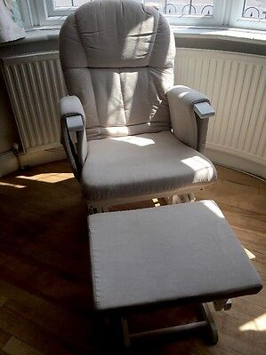 Reclining Glider Nursing Chair and Footstool John Lewis