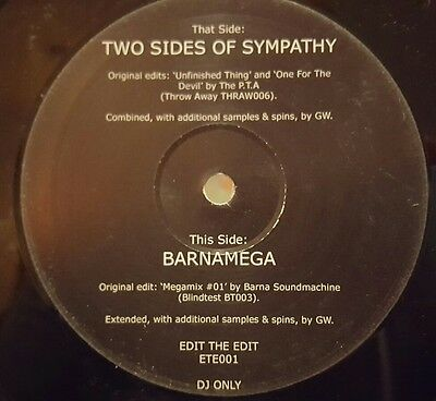 "Greg Wilson - Two sides of Sympathy / Barnamega 12"" vinyl Breakbeat"