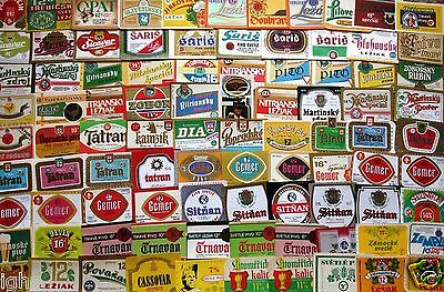 CZECHOSLOVAKIA Lot of 100 different beer labels - VERY NICE !!! - A