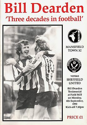 1993/4 Mansfield Town v Sheffield United, Dearden Testimonial, PERFECT CONDITION