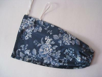 Grocery Plastic bag tidy fabric  Blue floral print . Kitchen. gift. present
