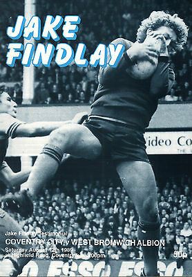 1989/90 Coventry City v West Bromwich Albion, Findlay Testimonial, PERFECT