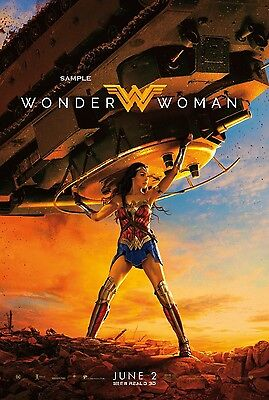 New Wonder Woman Movie Large A1 plus Poster Print 2017