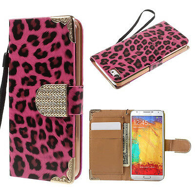 H.PJnk Leopard Leather Wallet Case Cover For Samsung Galaxy Note Edge{Px66