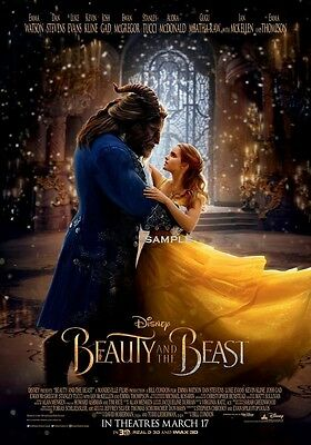 Beauty and the Beast 2017 version 4 A4 Movie Poster Print
