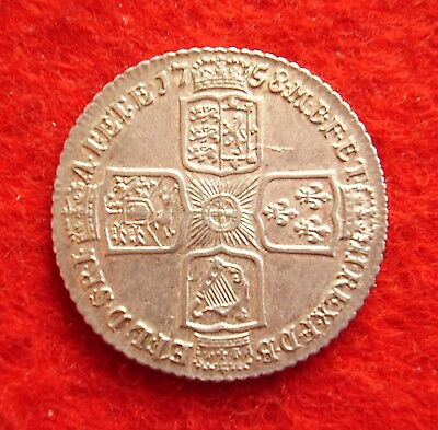 George II ~ 1758 Shilling. high grade