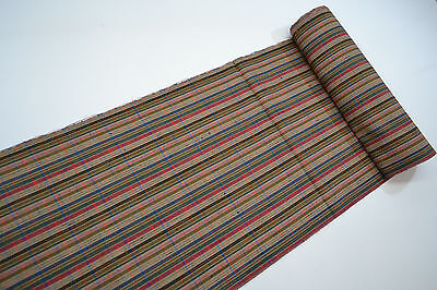 UN-USED WOOL 95% MIX KIMONO BOLT:Lovely Multi Color Check@Z62y