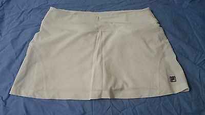 Ladies size L white Fila tennis skirt
