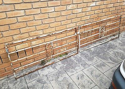 Vintage Rustic Iron Driveway Gate Pair Pickup Narre Warren