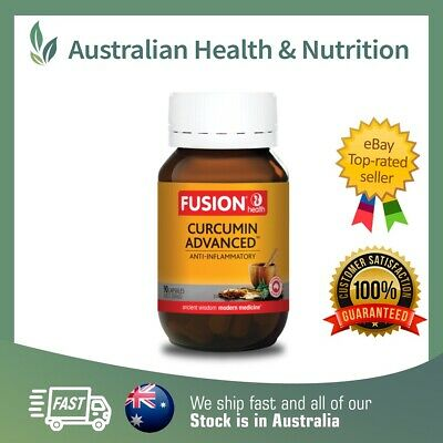 Fusion Health Curcumin Advanced 90C - New Size- Highest Strength + Free Post