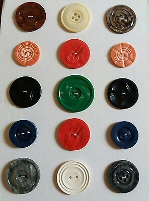 Vintage Art Deco Plastic Buttons Abstract Lot of 15