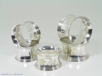 Lot of 5 Antique French Christofle Fidelio & Other Napkin Rings