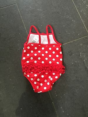 M&s Baby Girls Swimming Costume With Nappy Lining  Age 6-9 Months  New