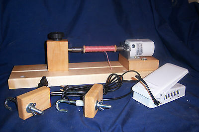 Electric Double Ended Bobbin Winder for Boat  Shuttles ,Spools, Bobbins, Prins