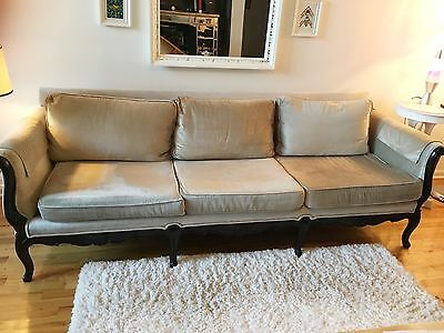 antique victorian carved sofa silver