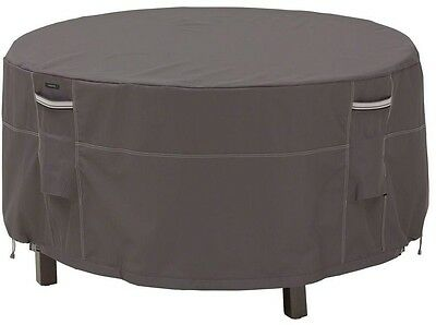 Small Round All-Weather Patio Table and Chair Set Cover for Furniture in Gray