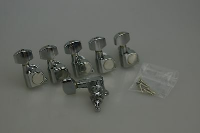 Fender Starcaster Series Strat TUNERS Tuning Pegs Stratocaster Chrome 3834