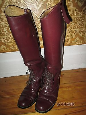 equestrian field horse riding uniform mens boots size 7.5 gay interest