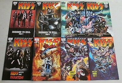 KISS 1-8 A Cover Set IDW FIRST PRINTING Gene Simmons Paul Stanley Peter Criss