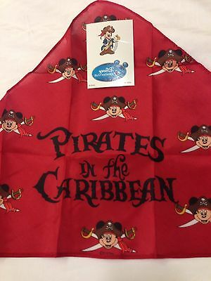 Pirate Bandana Captain Mickey Disney Cruise Line DCL DVC + 1 Tattoo All NEW