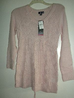"""oh Baby"" Pink Maternity Sweater Small Nwt's"
