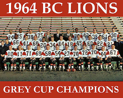 BC Lions - 1964 Grey Cup Champions, 8x10 Color Team Photo