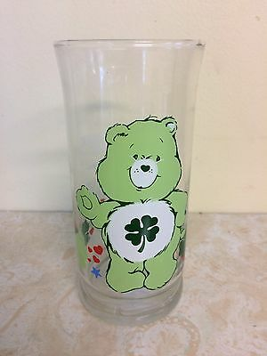 American Greetings Pizza Hut 1983 - Care Bears - Good Luck Bear Tumbler Glass