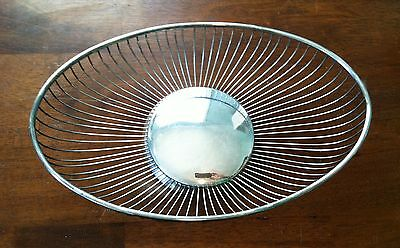 Eales 1779 Italy Vintage Silver Plated Oblong Wire Bread Basket Fruit Bowl, 111