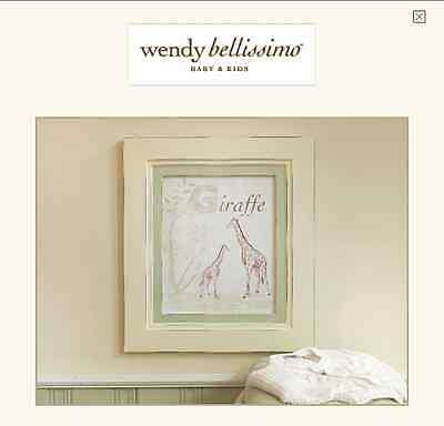 Wendy Bellissimo Baby & Kids Petite Safari Collection,GIRAFFE Wood Frame 15x17