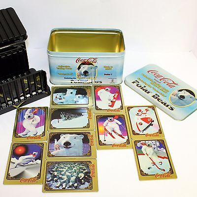 Coca Cola Polar Bear Limited Edition Metal Trading Cards Series 1 from 1996