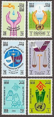 QATAR Scott 844-849 MNH - 1994 Water Day, Law Conference, Family Year