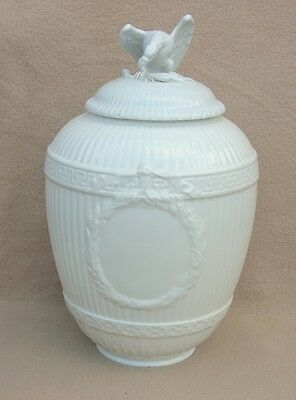 Antique Continental German Kpm Berlin Huge Blanc De Chine Porcelain Lidded Vase