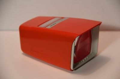 Argus 35mm Slide Viewer Pre-Viewer III - RED - Works - Illuminated lighted