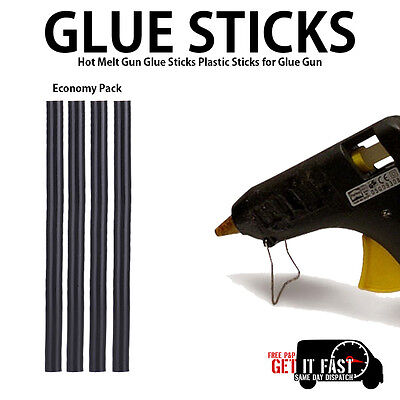 New Hot Melt Black Electric Glue Gun Sticks Set Pack For Craft Home & Office Use