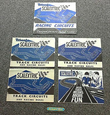 Scalextric Vintage 1960's Track Circuits & Racing Rules 3rd 4th 6th 7th & 8th