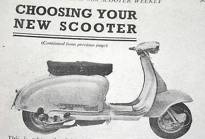 1959 Lambretta Photos & Scooter Feature In Vgc Cond Scooter & M/c Mag