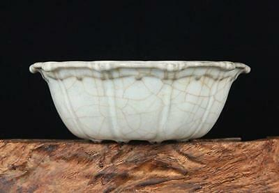 chinese ancient  azure glaze porcelain carving Drum nails Fold along the wash