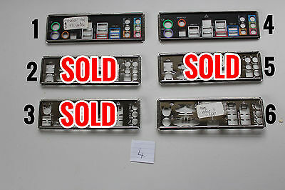 I/o Io Plate Back Shield Choice Of One For Matx Atx Unknown Motherboard Pc Lot 4