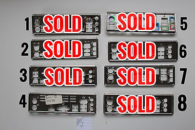 I/o Io Plate Back Shield Choice Of One For Matx Atx Unknown Motherboard Pc Lot 7