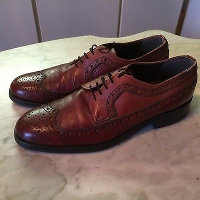 Vintage '80 rockabilly hipster Baycrest Dack's? wingtip oxford  mens shoes sz 9.