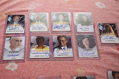 Lot of 9 X-Men movie autograph trading cards