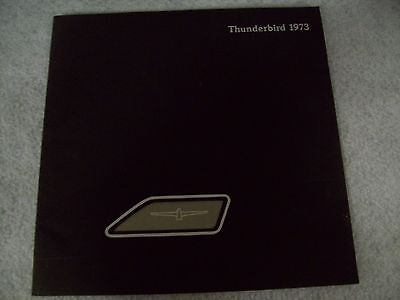 1973 Ford Thunderbird Deluxe 20-Page Dealer Sales Brochure - Mint