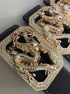 NEW Designer Belts BUCKLES, DIAMONDS RANGE FOR MEN AND WOMEN, FAMOUS DRAGON BELT
