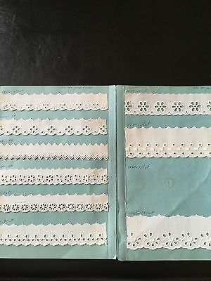 Antique lace samples in handmade sample book see pictures  8 Pages